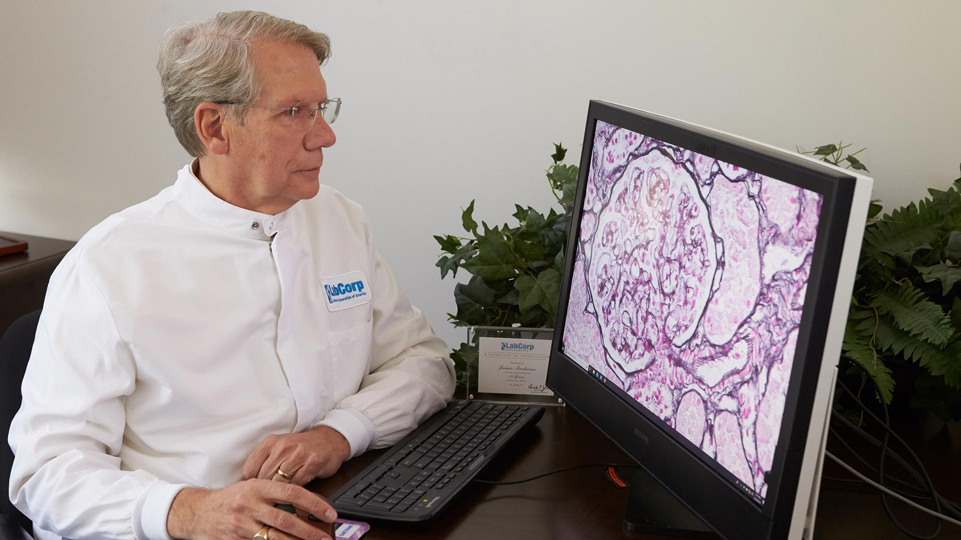 Pathologist uses Philips IntelliSite Pathology Solution